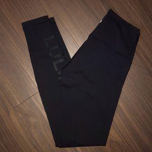Lululemon Limited Edition Wunder Under Logo on Leg